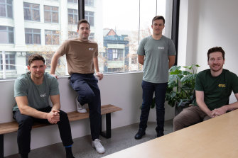 The team from Eucalyptus: From left: Benny Kleist, Charlie Gearside, Tim Doyle, Alexey Mitko.