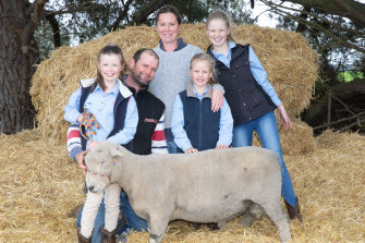 Simon and Kate Thomas with daughters Lexi, Emma and Imogen.