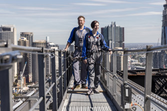 Sydney BridgeClimb operators David and Anthea Hammon had just endured a downturn caused by the bushfires when the coronavirus hit.