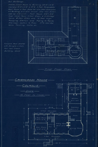 Ground and first floor plans for the stately Cairncross home.