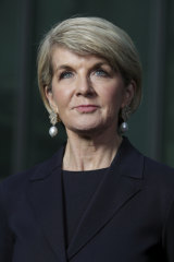 Former foreign affairs minister Julie Bishop.