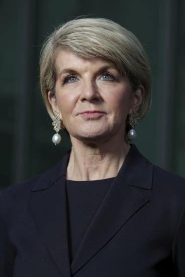 Former foreign affairs minister Julie Bishop.
