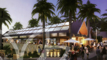 An artist's impression of the proposed Dusit Thani Brookwater Golf Resort and Spa at Ipswich.