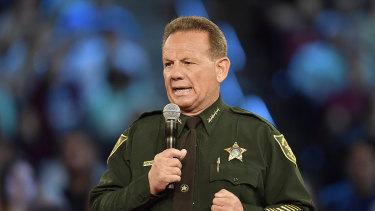 Broward County Sheriff Scott Israel speaks before a CNN town hall broadcast.