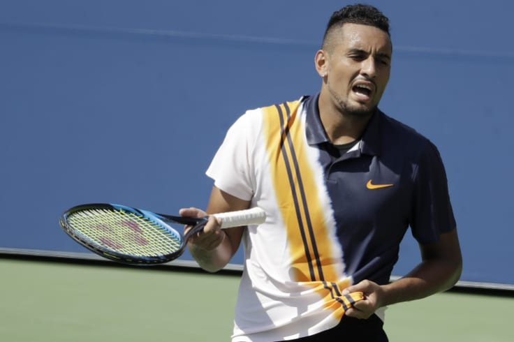 Kyrgios was trailing in the second set, but came back after the pep talk to beat Herbert.