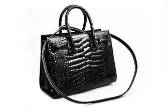 A Saint Laurent alligator skin handbag worth $26,313.