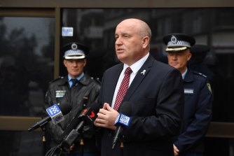 Police Minister David Elliott in Sydney last week. The Law Enforcement Conduct Commission oversees the NSW Police.