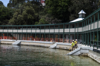 Work being carried out on the baths in November 2020.