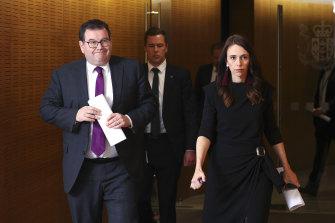 New Zealand's Deputy Prime Minister Grant Robertson with Prime Minister Jacinda Ardern.