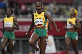 Elaine Thompson-Herah of Jamaica.