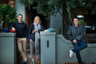 Larissa and Nick Lewis with co-founder Lyndon Galvin started the Cookaborough platform with the idea of sharing meals among neighbours.