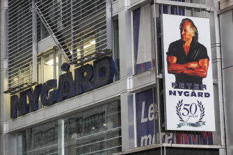 Peter Nygard's headquarters in Times Square, New York, was raided earlier in the year.