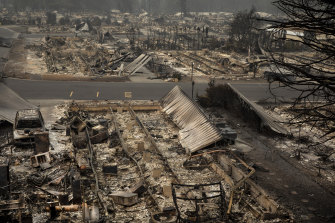 Wildfires devastated parts of Talent, Oregon, on Thursday.