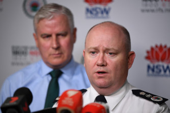 NSW RFS Commissioner Shane Fitzsimmons.