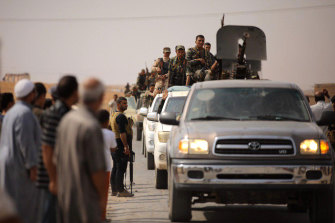 The Syrian Government's official news agency SANA released photos of its troops moving north.