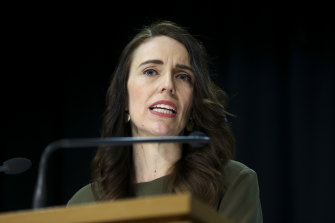 Prime Minister Jacinda Ardern announces the election's new date as October 17, on Monday.