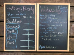The new blackboard has been a game-changer for our household.