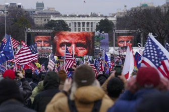 Called by Trump to Washington on January 6, supporters amass near the White House.