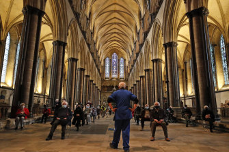 Vaccinations in England's Salisbury Cathedral. The record speed of vaccine development was because of  record research focus and investment not because safety standards were cut.
