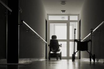 Young people with disabilities occupy 5 per cent of residential aged care beds.