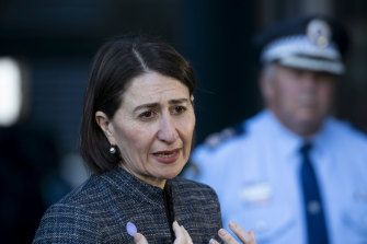 NSW Premier Gladys Berejiklian addresses the media on the latest devolpments of the coronavirus pandemic