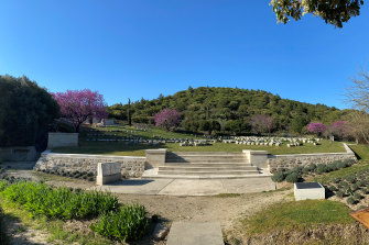 The cemetery at Shrapnel Valley on the Gallipoli Peninsula, empty of visitors this year.