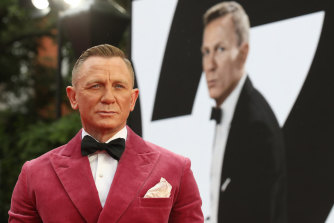 Daniel Craig at the world premiere of No Time to Die in London.