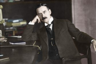 Thomas Mann, the subject of Colm Toibin's latest novel, seen in 1916 a colourised photograph.