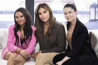 At war: Serena de Comarmond, Caitlyn Jenner and Amanda Archer in Malibu.
