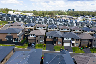 Kellyville, in Sydney's north-west, is one of the areas where it's expected thousands of new homes will be built by 2025.