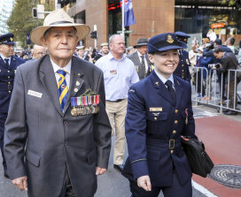 Don Kennedy on Anzac Day, 2021.