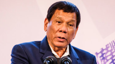 President Rodrigo Duterte told soldiers to shoot female rebels' genitals.