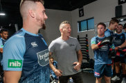 Boxing clever: Danny Green puts the Blues through a workout in his Scarborough gym.