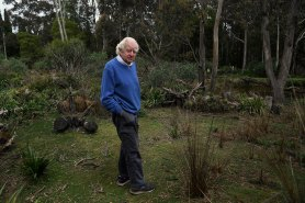 Peter Pigott at the sanctuary he created for the endangered parma wallaby.