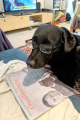 Florence loves a good read on the weekend.