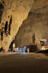 Near the entrance to the older section of Tenglong Cave in China's Hubei province.