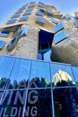 Frank Gehry's Dr Chau Chak Wing at UTS grabs your attention.
