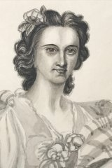 A self-portrait of Charlotte Waring Atkinson from her 1848 sketchbook.