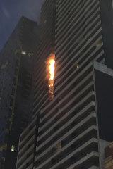 The Neo 200 blaze on Spencer Street on February 4.