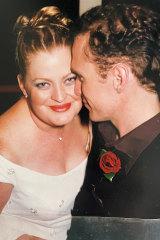Hugh and Kylie on their wedding day.