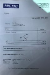 Tony Zappia's signature appears on the controversial invoice for work never performed.