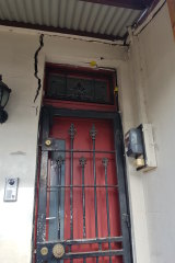 Cracks at the entrance of Dr Angela Livingstone's home prevented her from opening the front door.