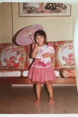 Melissa, aged three, in Singapore visiting family.