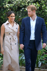 Meghan and Harry arrive at an event in Johannesburg last week.