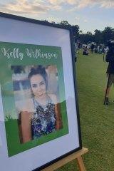 A vigil was held for Kelly Wilkinson.