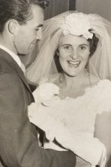Brian Halfpenny and Helene Cohen on their wedding day.