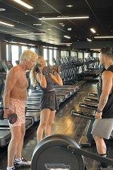 Celebrity PT Jono Castano put Sir Richard Branson through his paces in Miami last week.