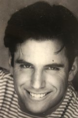 William Oliver in his days as a writer/performer, when wrote a play about his childhood sexual abuse, Dream Shark.