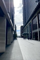 The streets of Barangaroo are handsome, in a mildly dystopian way, but still, on a mid-week lunchtime, almost deserted.