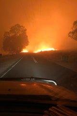 Matt Gledhill took this photo as he drove up Murray River Road at Pine Mountain, near Walwa.